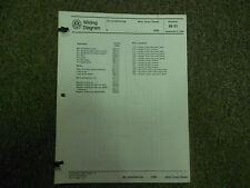 1986 VW Jetta Turbo Diesel Cooling Fan A/C EEC Wiring Diagram Service Manual OEM