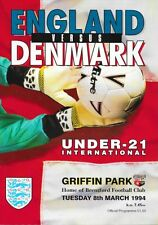 ENGLAND V DENMARK 93/94 -- UNDER 21 INTERNATIONAL AT BRENTFORD.