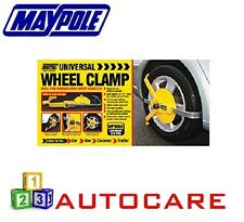 "Maypole Universal 13""-17"" Wheel Clamp For Caravan/Trailer Car Van"
