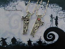 Nightmare Before Christmas Jack Lisa Coffin Friendship Ball Bar Chain Necklaces