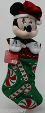 Holiday Christmas Disney Minnie Mouse Candy Cane Peppermint 20 in Stocking NWT