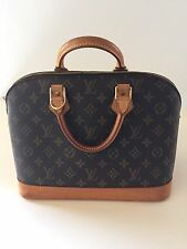 LOUIS VUITTON ALMA PM MONOGRAM WITH GOLD HARDWARE, USED VINTAGE