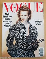 Vogue Paris ~ #695 April 1989 ~ Isabelle Pasco Kristen McMenamy Guy Laroche