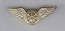 Wheel with Wings Police Traffic/Motorcycle Gold Lapel/Uniform Pin