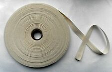 "4m PIECE 1/2"" CREAM PLAIN COTTON TAPE RIBBON TRIM EDGING BINDING BUNTING CRAFT"