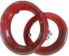 VESPA 10 INCH TUBELESS RIMS X 2 PX LML T5 RED NEW ALLOY PAIR