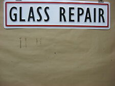 GLASS REPAIR Automotive Service Sign 3D Embossed Plastic 5x22, Garage or Shop