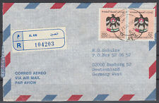 1990 UAE, R-Cover Al Ain to Germany, Crest Wappen [cm763]