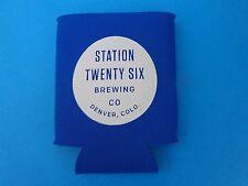 Beer Bottle Can Holder Koozie  *  Station Twenty Six Brewing Co Denver Colorado