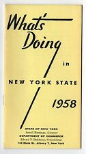 1958 WHAT'S DOING IN NEW YORK STATE NY Travel TOURISM Commerce NYC Mohawk FINGER