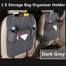 Auto Car Seat Back Multi-Pocket Storage Bag Organizer Holder Accessory Dark Grey