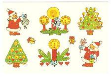 """DDR Abziehbild Schiebebild """" WEIHNACHTEN """" Weihnachtsmann Kerzen Weihnachtsbaum"""