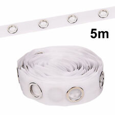 5M Eyelet Curtain Tape 40 Rings Accessories Sewing Sliver Curtains Blinds New