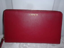 NWT Coach Legacy Leather Continental Zip Around Wallet  Deep Port Clutch 50202