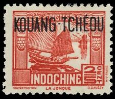 """FRENCH OFFICES in KWANGCHOWAN 137 - Chinese Junk """"RF Omitted"""" (pa78967)"""