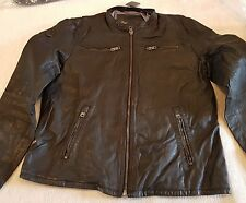 SUPERDRY REAL HERO LEATHER BIKER JACKET SIZE L RRP £199.99