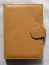 NEW GREENWICH LEATHER MUSTARD POCKET SIZE FILE ORGANISER WALLET 15mm DIAMETER