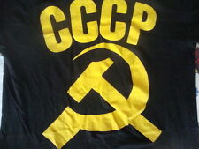 Vintage CCCP Communist Russia Soviet Union Rare Black punk rock T Shirt M