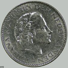 1957 Netherlands Gulden KM# 184 Uncirculated silver BU, outstanding