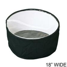 18 Inch Collapsible Fabric Hat Bag with Clear Vinyl Top - Travel Hat Storage