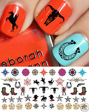 Country & Western Nail Art Waterslide Decals Set #2 - Horseshoes, Cowboy Boots!