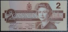 "BANK OF CANADA - 1986 $2 Note - SCARCE PREFIX ""AUN"" - Nice - NCC"
