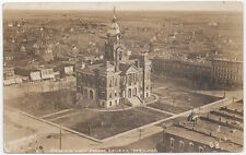 Real Photo Postcard Birds Eye View of the Public Square in York, Nebraska~106795
