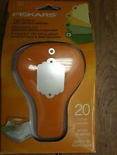 FISKARS TAG PUNCH clothing label crafts scrap booking eyelet setter
