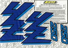 YZ250 YZ 250 1989 Decals Graphics Stickers BLUE