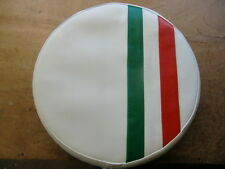 Italian Stripe White Scooter Wheel Cover