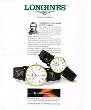 "PUBLICITE ADVERTISING 1994 LONGINES ""THE LEGEND LIVES ON ""  COLLECTION MONTRES"