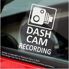 4 x DASH CAM Recording Warning Stickers-60mm CCTV Signs-Car,Taxi,Mini Cab Van