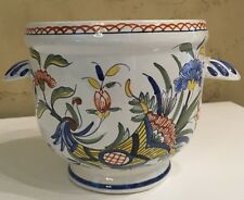 French  Rouen Faience Cash Pot Desires Perfect Older French Mark C