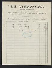 """POITIERS (86) ASSOCIATION OUVRIERE FABRICANTS de BALAIS """"LA VIENNOISE"""" en 1914"""