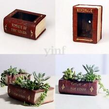 Vintage Book Succulent Flower Plant Herbs Pot for Indoor Outdoor Garden Planter