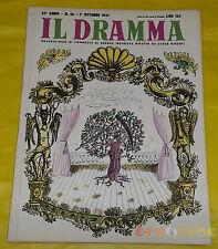 IL DRAMMA 1947 n. 46 - Copertina Renzo Regosa - Opere: vedi inserzione