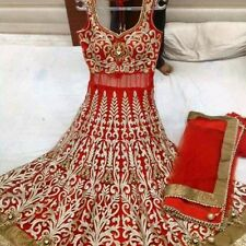 Designer Party wear Anarkali Suit in hot red wedding Latest