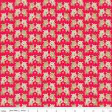 Fat Quarter Reindeer Red Christmas Cotton Quilting Fabric Riley Blake C3972 RED
