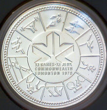 Uncirculated 1978 Canada $1 Silver Dollar 11th Commonwealth Game Edmonton