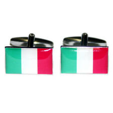 Green, White & Red Italy Flag Cufflinks With Gift Pouch Italian Country Flags