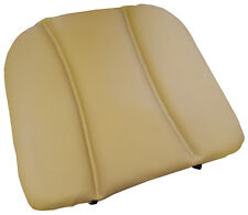 Universal Padded LEATHER Car Seat Cushion & or Back Support in DARK CREAM