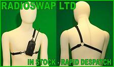 SYNETIX BODY HARNESS CORDURA CARRY CASE FOR MOTOROLA HT600 HT800 P200 P210 LRG