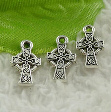 Free Ship 544 pieces tibet silver cross charms 15x9mm #4542