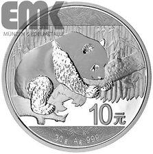 China - 10 Yuan 2016 - Panda-Bär - 30 gr. Silber in Stgl. - Silber-Klassiker
