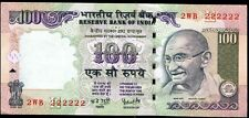 INDIA Rs.100/- BANKNOTE SUPER FANCY NO. 2??222222,UNC,RARE