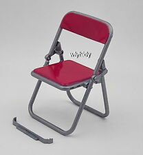 Mini Classroom Fold Chair For Figure Doll/Phone Holder CHERRY RED, 1 pc   h#64