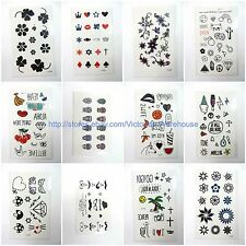 US Seller-10 sheets temporary tattoo tiny micro tattoo finger face ear wrist