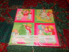 VTG CHRISTMAS WRAPPING PAPER GIFT WRAP AMERICAN GREETINGS ROCKING HORSE PINK 2