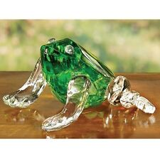 Deluxe Faceted CRYSTAL Frog Figurine deluxe COLLECTOR NEW In Box Big Sale