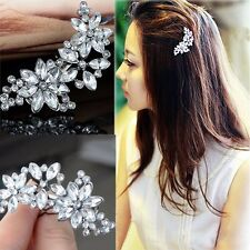 Retro Fashion Lady Flower Rhinestone Hair Clip Headwear Hairpin Hair Accessories